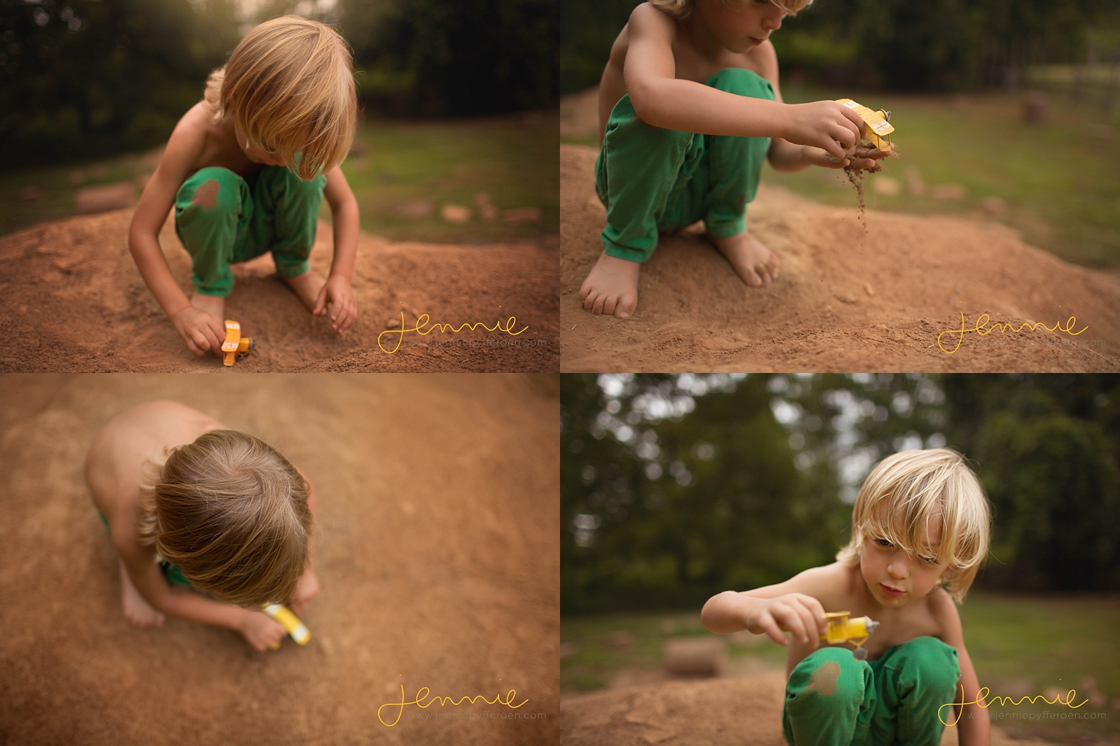Nashville Child Photographer Boy dirt nature mini boden airplane