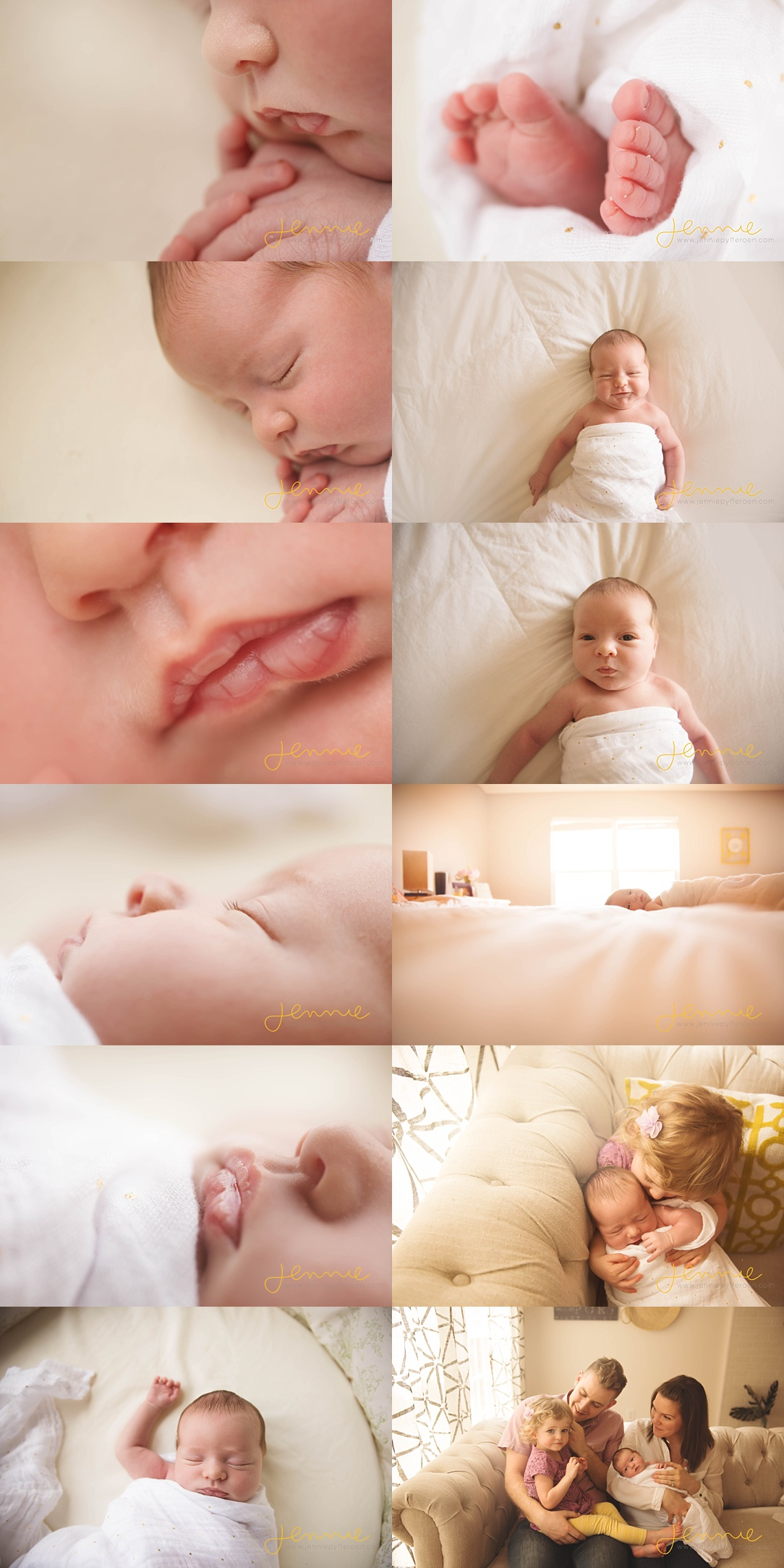 lifestyle in home baby session