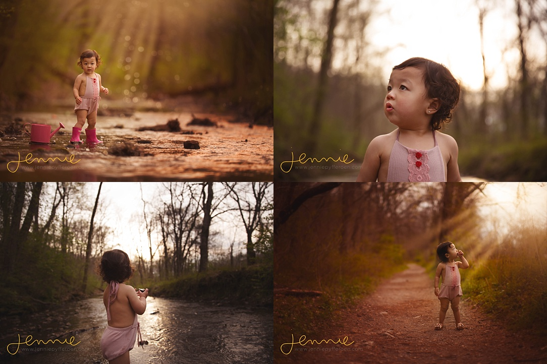 Nashville Child Photographer Creek Rain Boots puddles