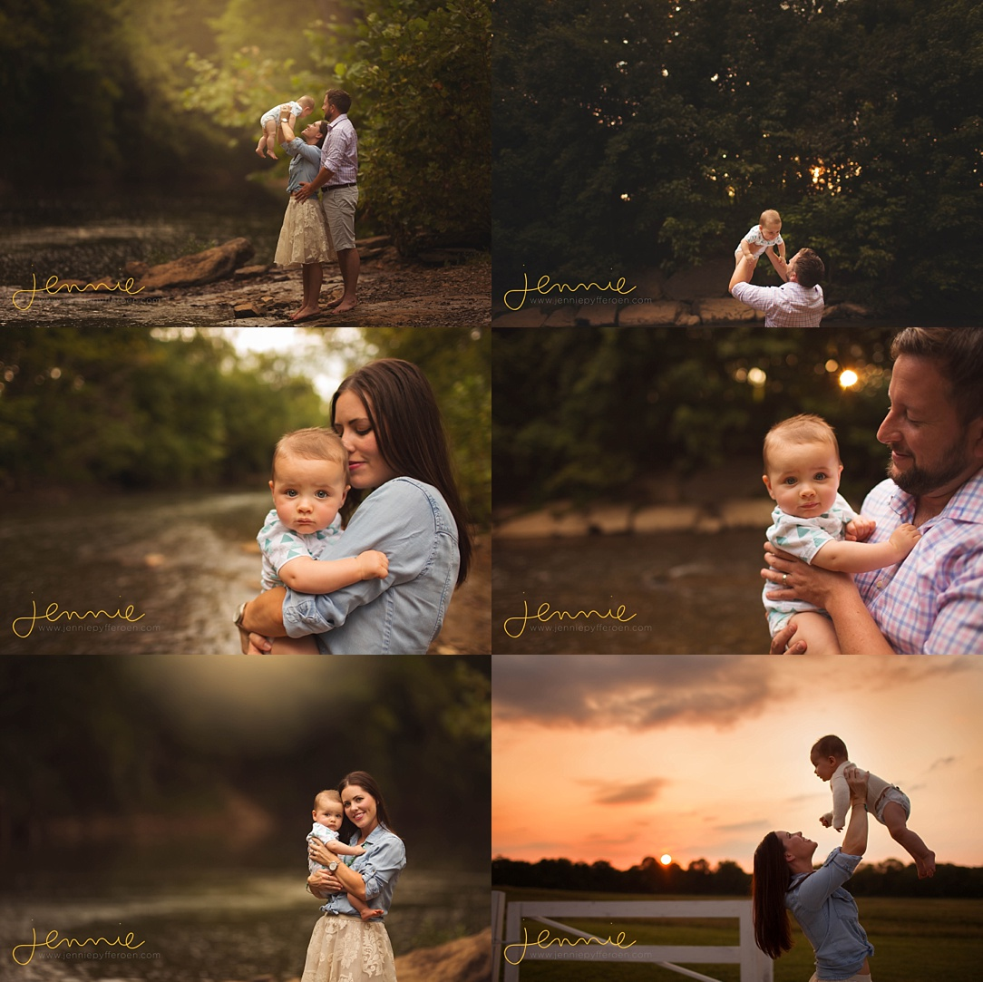 Nashville Baby Photographer outdoors outside nature creek lifestyle